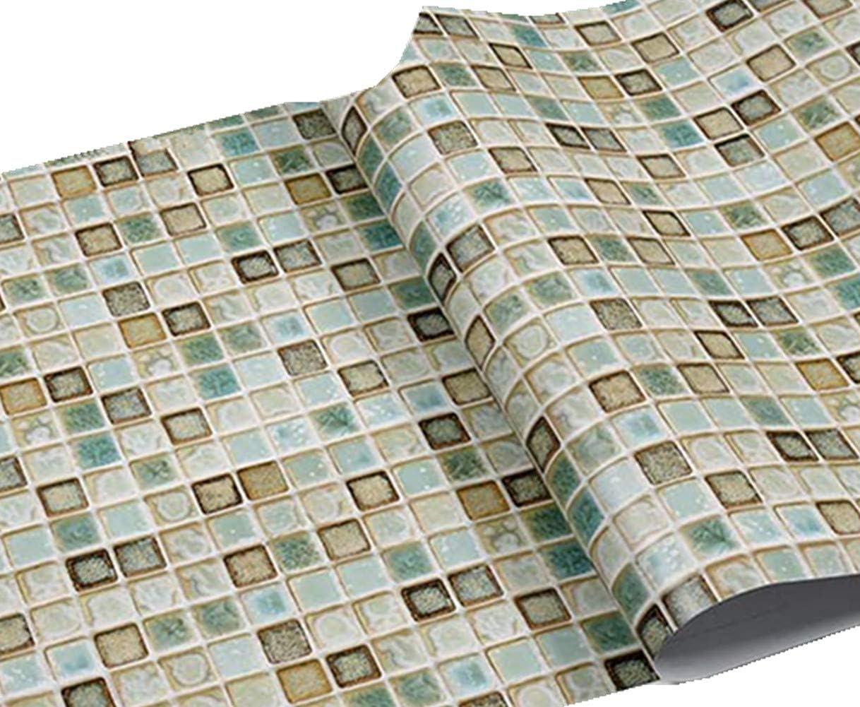 - REDODECO Vintage Style Mosaic Adhesive Paper Kitchen Backsplash