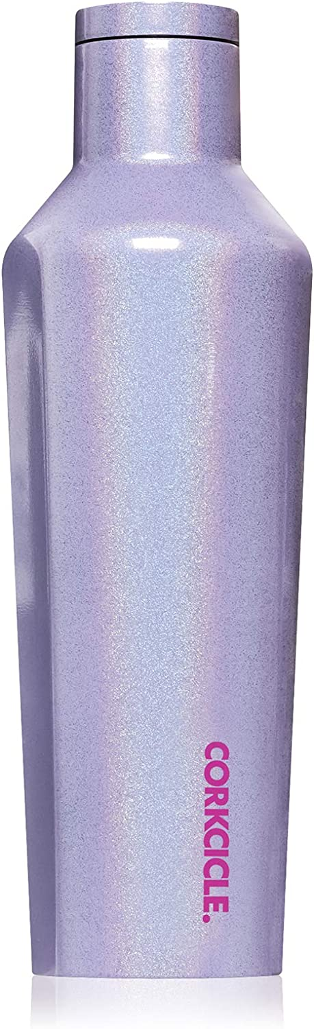 Corkcicle 16oz Canteen Classic Collection - Water Bottle & Thermos - Triple Insulated Shatterproof Stainless Steel, Sparkle Pixie Dust