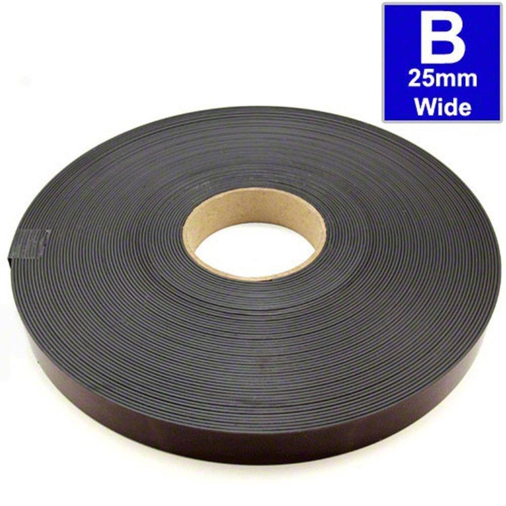 Magnetband einseitig selbstklebend Magnetstreifen Breite wählbar Meterware