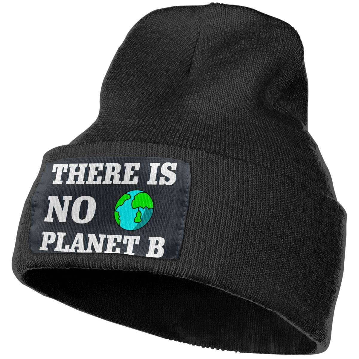 Mens Womens 100/% Acrylic Knitting Hat Cap There is No Planet B Fashion Beanie Hat