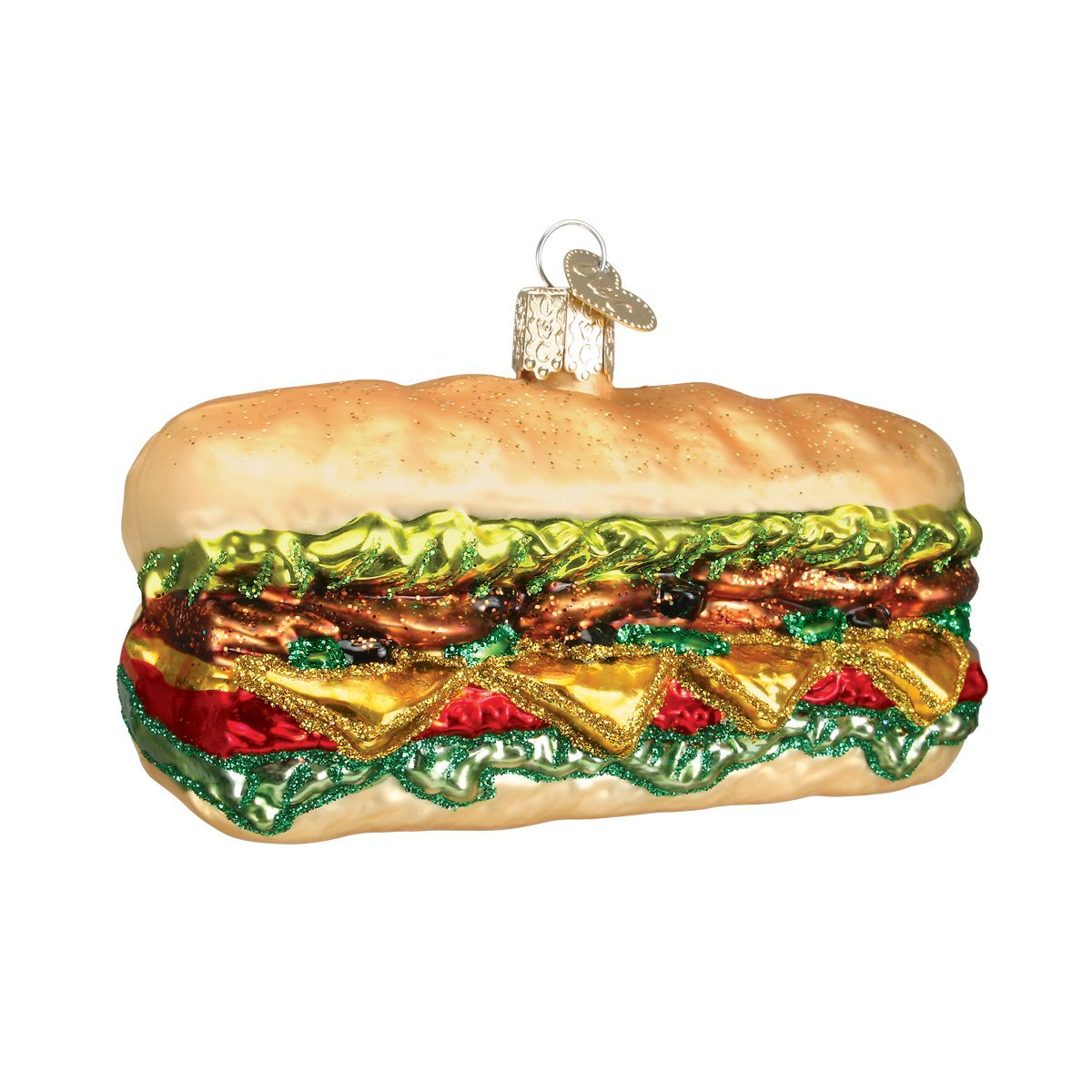 Old World Christmas Deli Sandwich Glass Blown Ornament