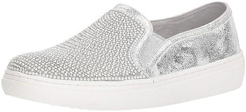 8a7d6da234985 Skechers Women's Goldie-Rhinestone and Pearl Embellished Slip on Sneaker