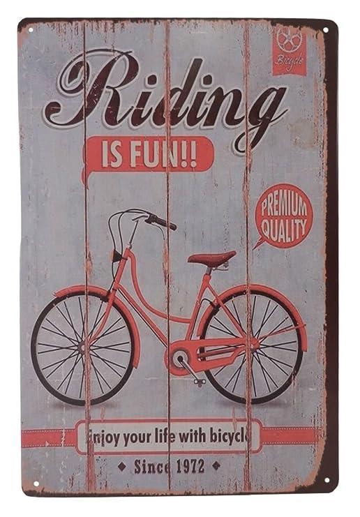 Amazon.com: Bicicleta Bike Riding Is Fun Ride cartel de ...