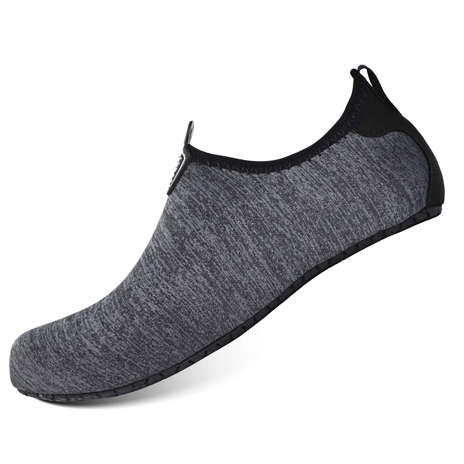 51898152e0be3 HEETA Water Sports Shoes for Women Men Quick Dry Aqua Socks Swim Barefoot  Pool Beach Shoes for All Water Sport Black_E XXXL