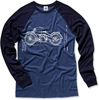 product image for Hank Player U.S.A. Harley Motorcycle Patent Men's L/S Baseball T-Shirt