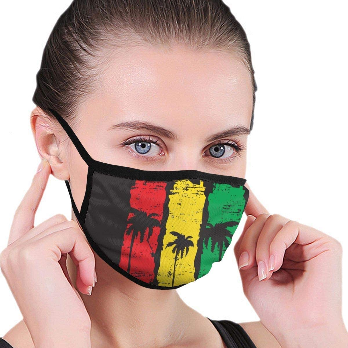 Dust Cover,Ilustración De Vector sobre El Tema De La Decoración Facial De California, Protección Facial De Seguridad