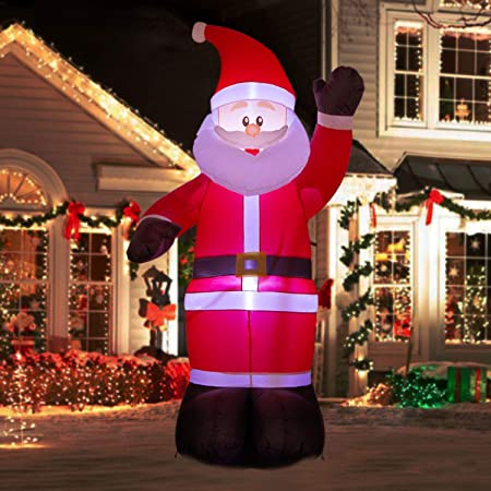 Amazon.com: YIHONG 6 pies Navidad Inflables Saludo Papá Noel ...