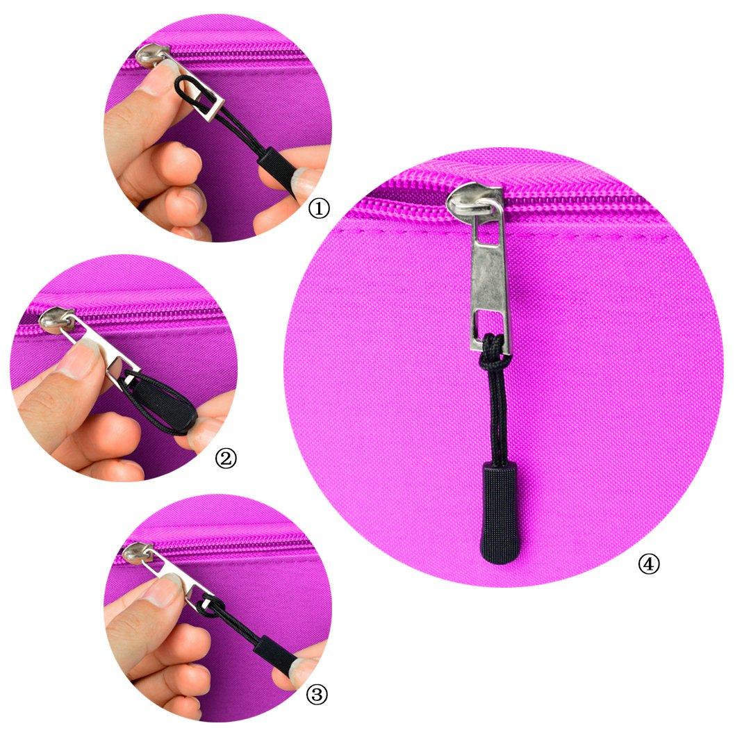 24pcs Zipper Pulls, Wobe Black Nylon Cord Zipper Pulls Zipper Fixer with Non-slip Gripper Zipper Extension Zipper Tag