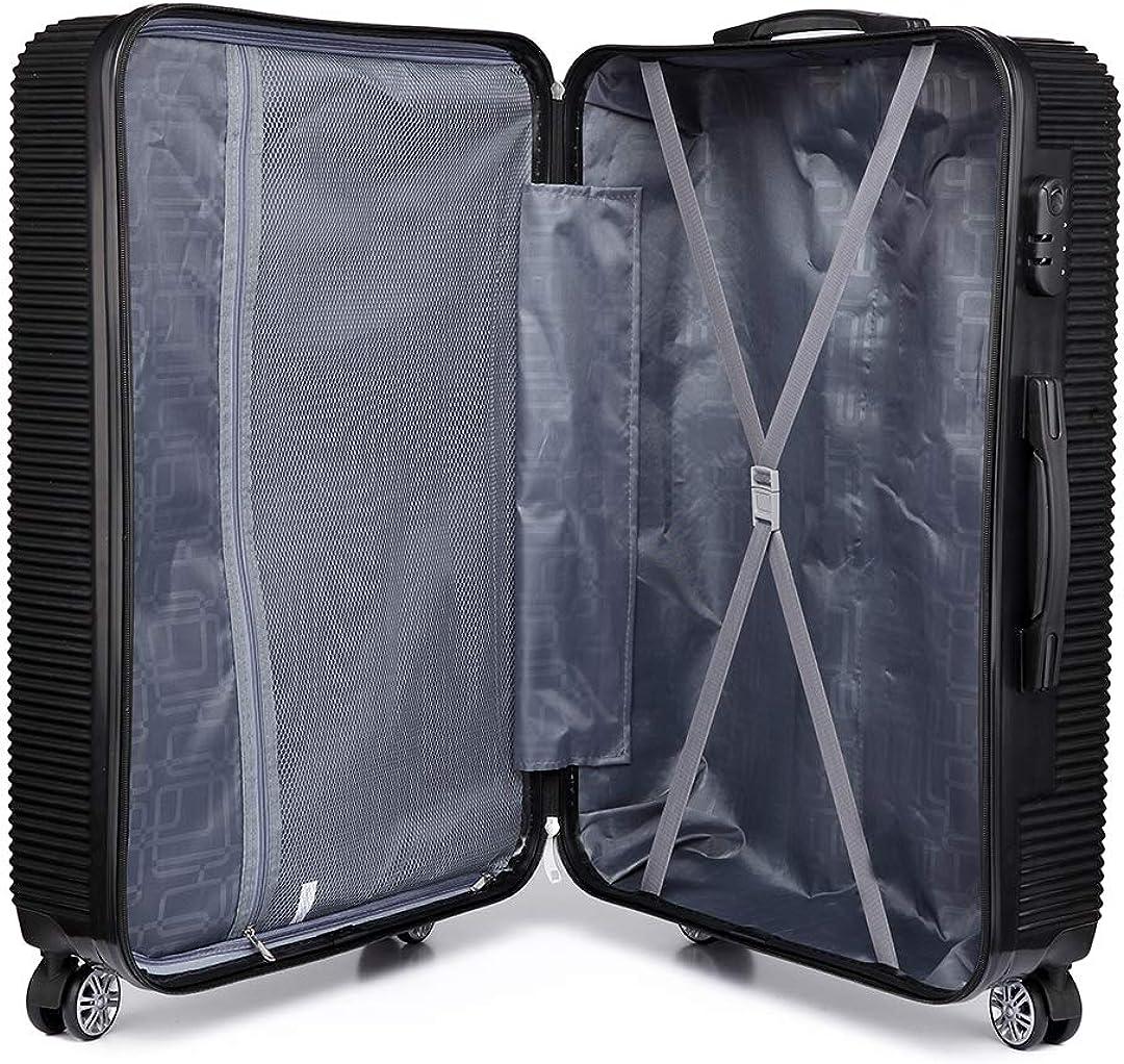 Kono Valise Rigide PC L/éger Bagage Cabine 20 Pouces avec 4 roulettes
