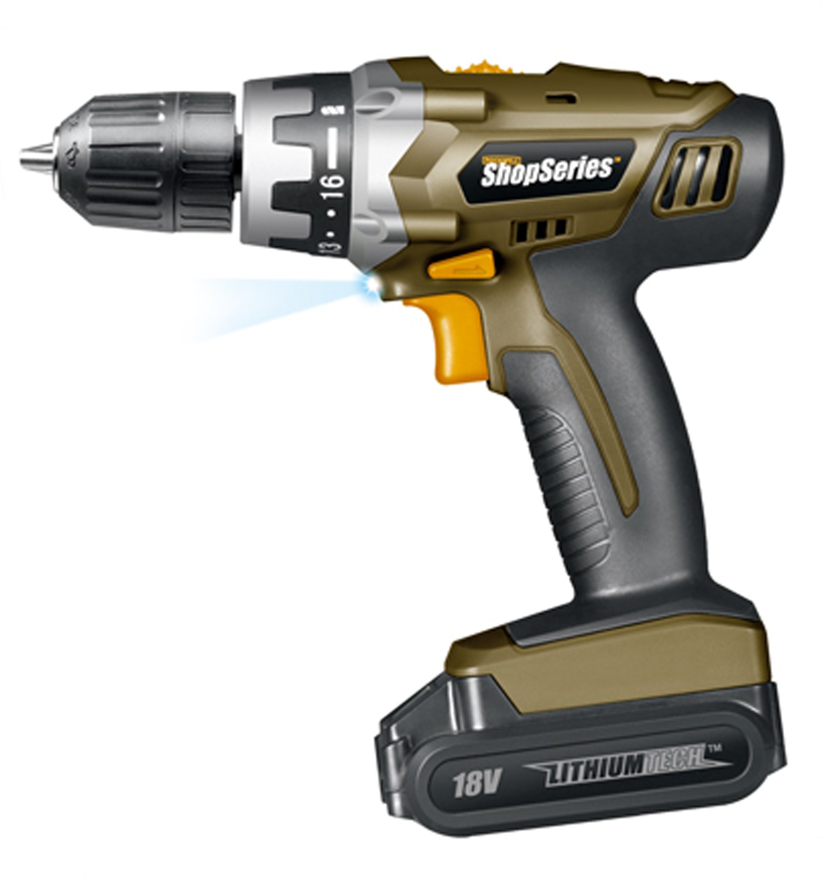 ShopSeries SS2800 3/8'' 18-Volt Lithium-Ion Cordless Drill/Driver