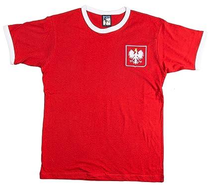 The Old School Shop Retro Poland Football T Shirt New Sizes S-XXL  Embroidered Logo  Amazon.co.uk  Clothing d87469860