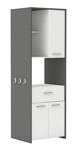 Demeyere Almond Küchenschrank, Spanplatte, weiß/gaphite grau, 60 x ... | {Küchenschrank grau 33}