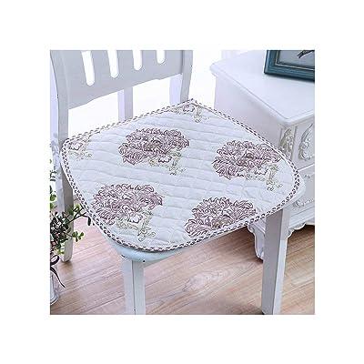 Baota Chair Cushion Non Slip Super Soft Chair Cushion Pastoral Seat Cushion Can Be Fixed On Chair, Fuguihuashuzi, About 41X43Cm : Garden & Outdoor