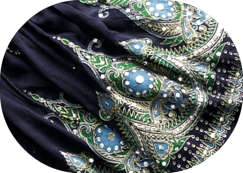MINI Señoras Indian Boho Hippie Gypsy Sequin Summer Sundress Falda ...