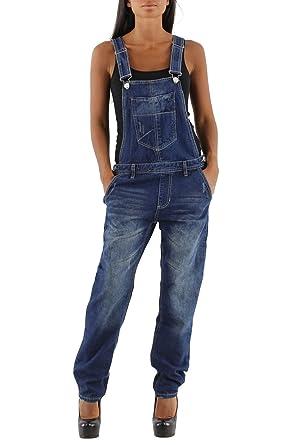 744f26dfb76b si moda Damen Jeans Hose Baggy Boyfriend Latzhose Latzjeans Jumpsuit  Overall Hüftjeans  Amazon.de  Bekleidung