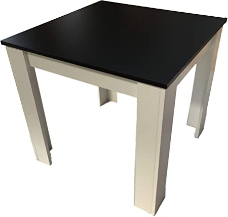 Möbel 80x80 SD Manger NoirCuisine Table Blanc à LAj54R