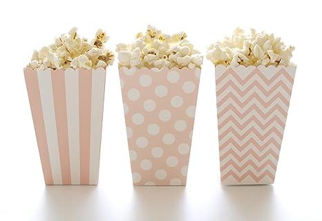 Amazon.com: Cajas de palomitas de maíz, luz rosa de diseño ...