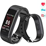 Fitness Trackers Watch Color Display With Heart Rate Monitor Waterproof Sport Activity Tracker Pedometer Smart Watch Bracelet Call Reminder Message Reminder Bluetooth for iOS and Android Women Men