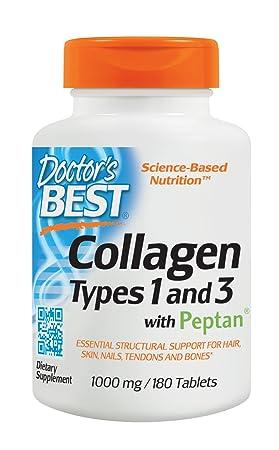 Doctors Best, Best Colágeno, Tipo 1 & 3 - 1000mg x180tabs