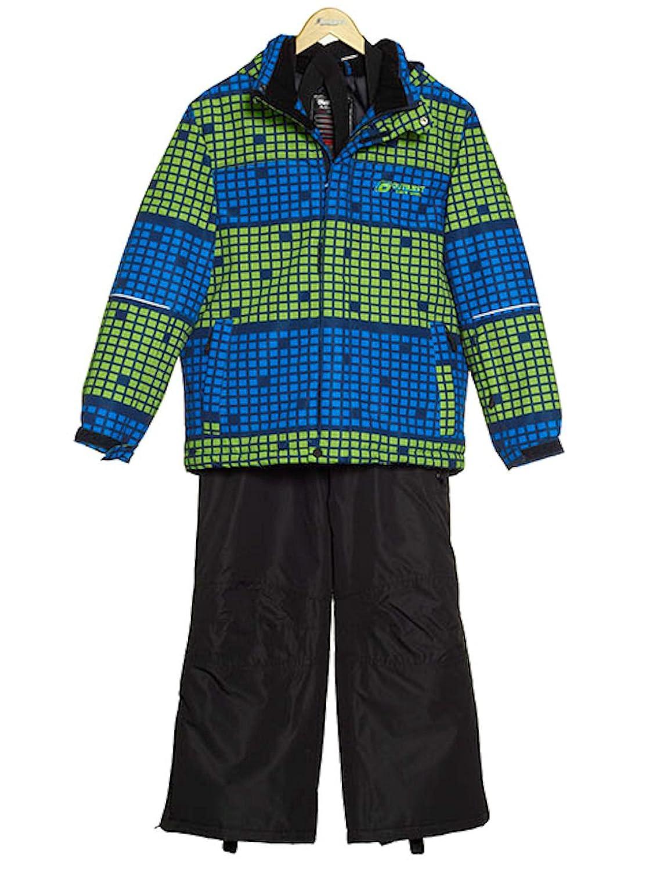 Outburst Jungen Skianzug Funktions Ski-Anzug bedruckt schwarz