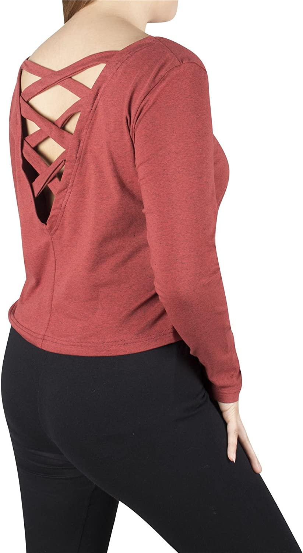 Lobaz Damen Loses Pullover Shirt Kinder Langarm Top Designer Criss Cross R/ücken