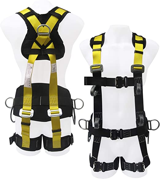Commando Fall Protect Full-Body Safety Harness with Lanyard (ANSI and OSHA  Compliant) - - Amazon.com