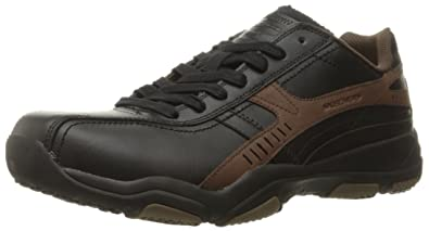 Skechers USA Men's Larson Almelo Oxford, Chocolate, 9 M US