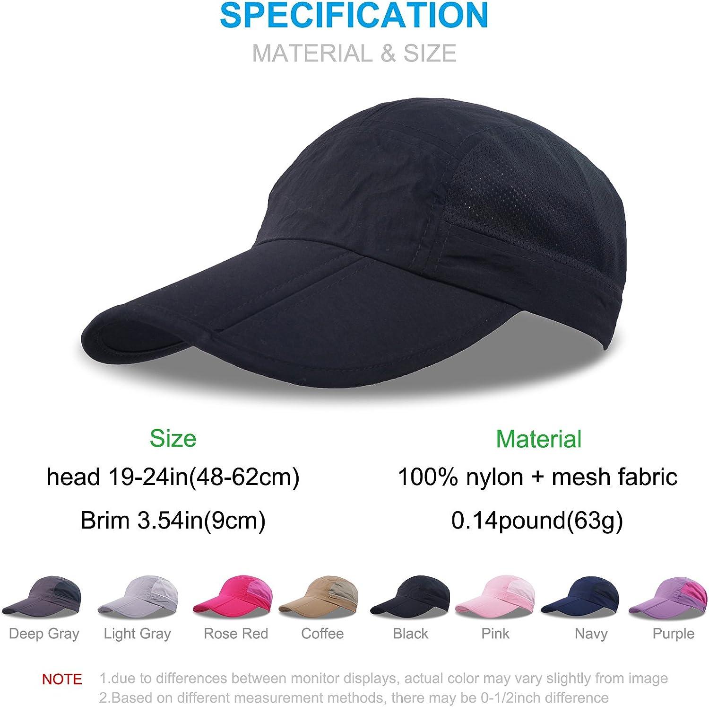 ZEARE Quick-drying waterproof breathable hat folding baseball hat sun hat lightweight long load driver hat sports cap unisex