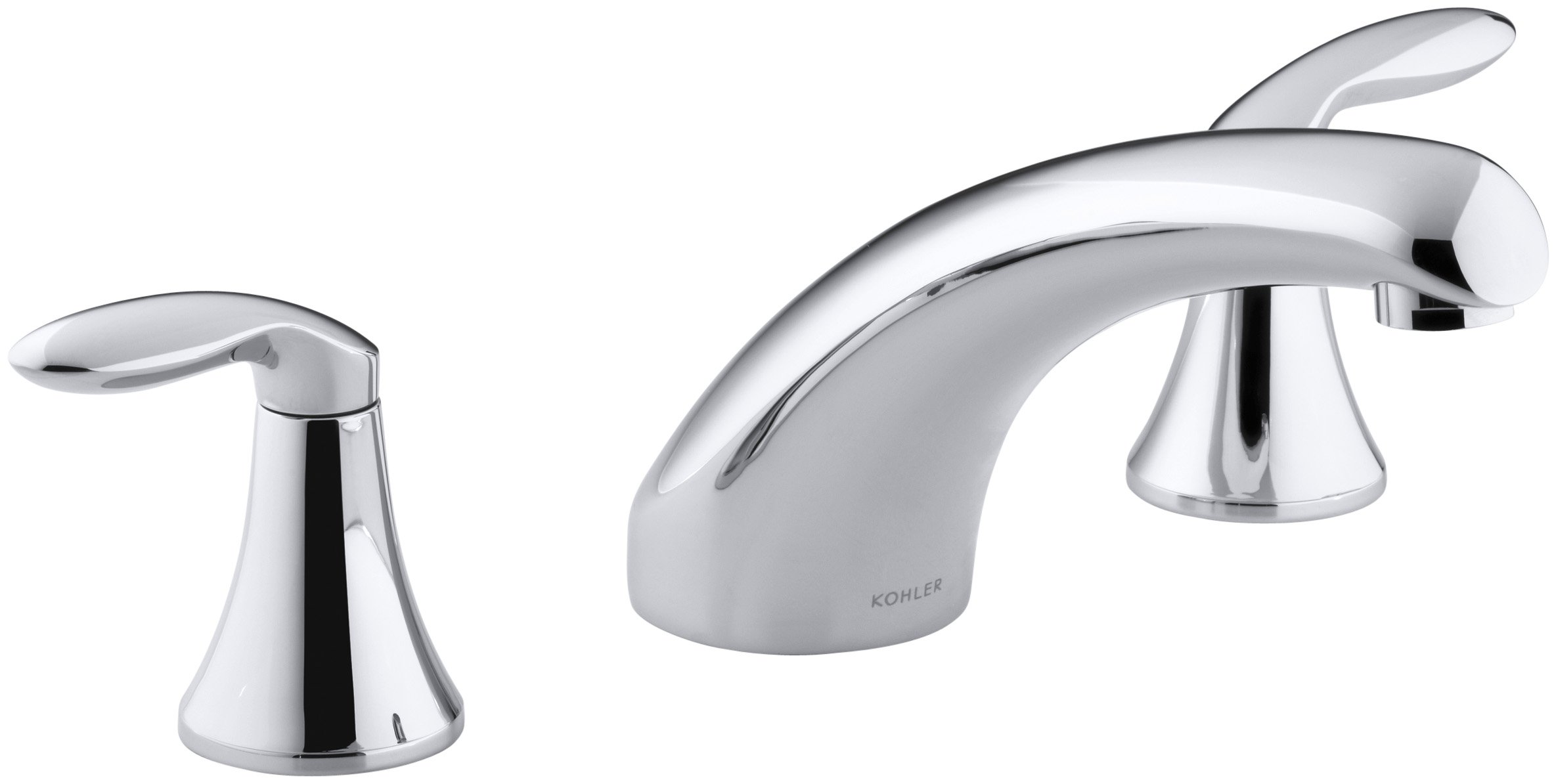 KOHLER K-T15290-4-CP Coralais Deck-mount bath faucet trim with 8'' spout and lever handles, Polished Chrome(valve not included)