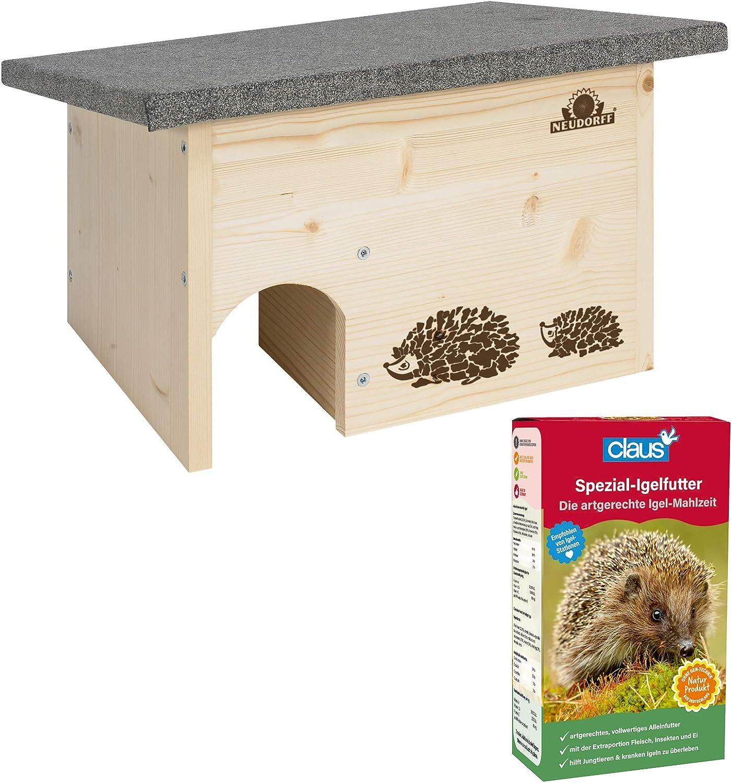Neudorff erizo Casa Incluye 1 kg especial de erizo Forro – Neudorff erizo Casa montar de madera + 1 kg especial de erizo Forro: Amazon.es: Jardín