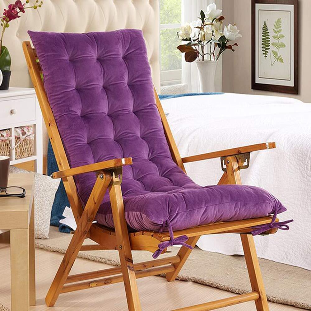 ZGYQGOO Indoor Outdoor Lounge Stuhl Kissen, Terrasse Liegestuhl Kissen, verdickt einfarbig langlebig Sonnenliege Matratze Stuhl Kissen für Outdoor-Möbel (nur Kissen) -lila 48x120cm (19x47inch)
