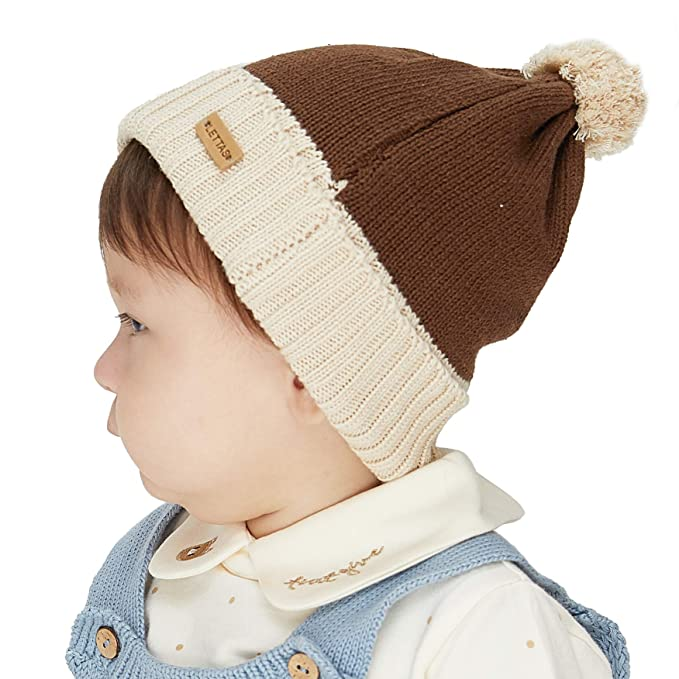 0e99d79449b Image Unavailable. Image not available for. Color  LETTAS Baby Boys Girls  Beanie Infant Knitted Hats ...