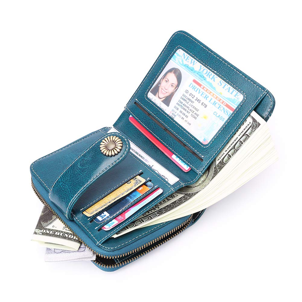 Cute Wallet for Womens Girls Simple Small Vivid Zipper Bifold Short Adorable Purses Lovely Card Holder