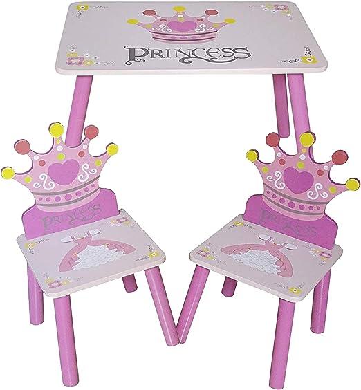Bebe Style - Juego de mesa y sillas infantiles (tamaño grande), diseño de princesa, color rosa: Amazon.es: Juguetes y juegos