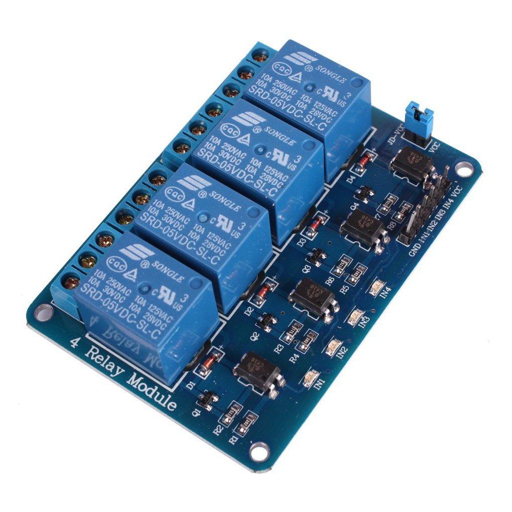 GEREE DC 12 V 4 canaux relais Module avec Optokoppler pour pic bras avr dsp Arduino