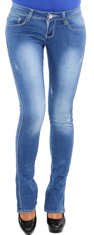 Damen Stretch Hose Röhrenhosen Jeanshose Röhre Skinny Treggings Sport Jeggings