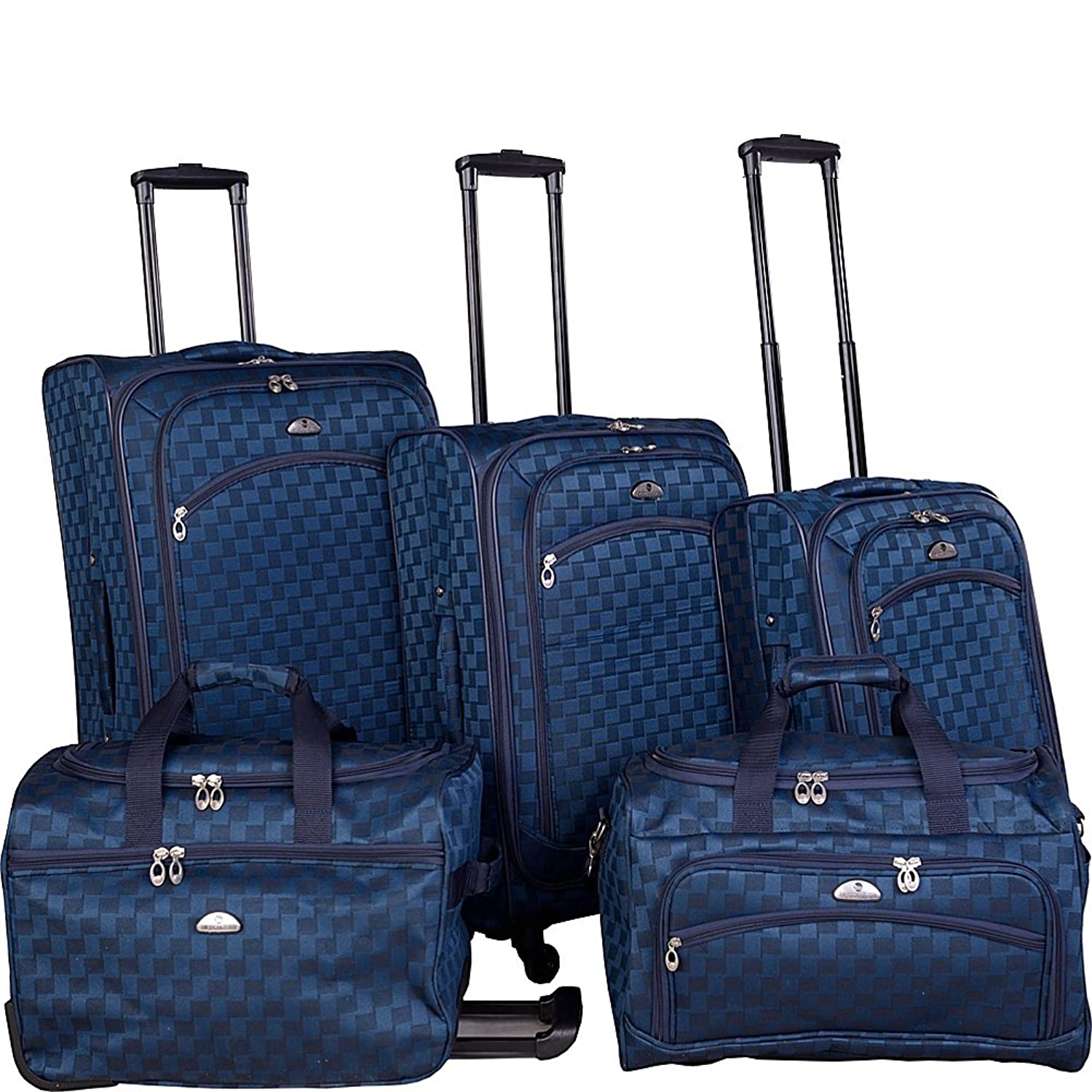 Amazon.com | American Flyer Madrid 5 Piece Spinner Luggage Set ...