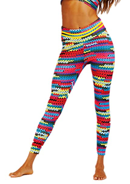 41bff43a4d4957 Tamskyt Womens Hot Sale Knit Digital Printed High Waist Leggings Pants:  Amazon.co.uk: Clothing