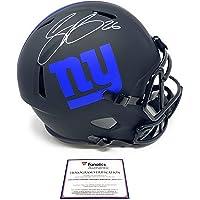 $375 » Saquon Barkley New York Signed Autograph RARE ECLIPSE Speed Full Size Helmet Fanatics Authentic Certified