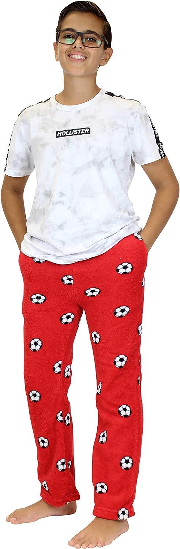 Real Essentials 3 Pack Boys Pajama Pants Super Soft Fleece PJ Lounge Bottoms for Kids