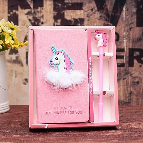 EUGU Unicornio Cuadernos y pluma, Diario de Unicornio,Regalo de Cumpleaños Para Niños