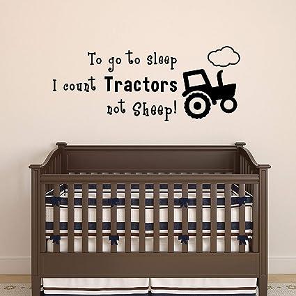TO GO TO SLEEP I COUNT TRUCKS INSTEAD OF SHEEP VINYL WALL DECAL KIDS BOY ROOM