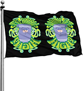 BREATH MELODY South Park Towelie Flag 4x6 ft 100% Polyester Durable Outdoor Garden House Home Decor Flag UV Resistant,Mainly Used for Courtyards,Gardens,Etc,Any Terrace Or Balcony