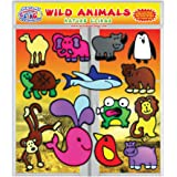 Incredible Clings Gel di Animali Selvatici Si aggrappa per Bambini, Toddler, Ragazzi e Ragazze - 3D Riutilizzabile Decorativi Finestra Si aggrappa per la casa, Gli Aerei, o per Gli Insegnanti