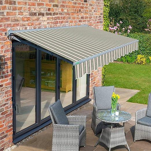Primrose 2.5 M Store de terraza baúl Tirador Manual: Amazon.es: Jardín