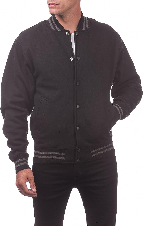 Pro Club Mens Varsity Fleece Baseball Jacket
