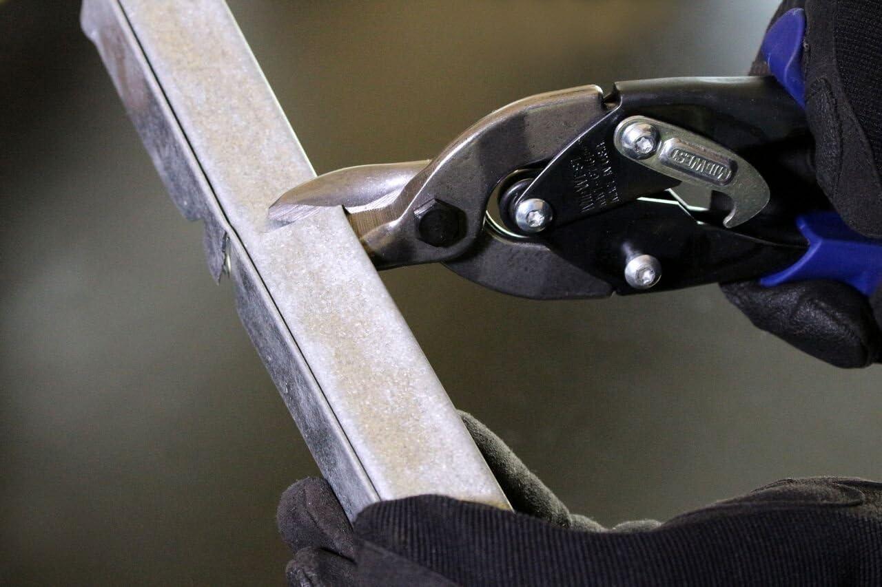 MIDWEST Bulldog Aviation Tin Snip Renewed Straight Cut Regular Tin Cutting Shears with Forged Blade /& KUSHN-POWER Comfort Grips MWT-6716B