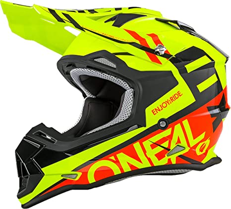 ONeal Unisex-Adult Off-Road Style 2SERIES Helmet SPYDE orange/white XXL (