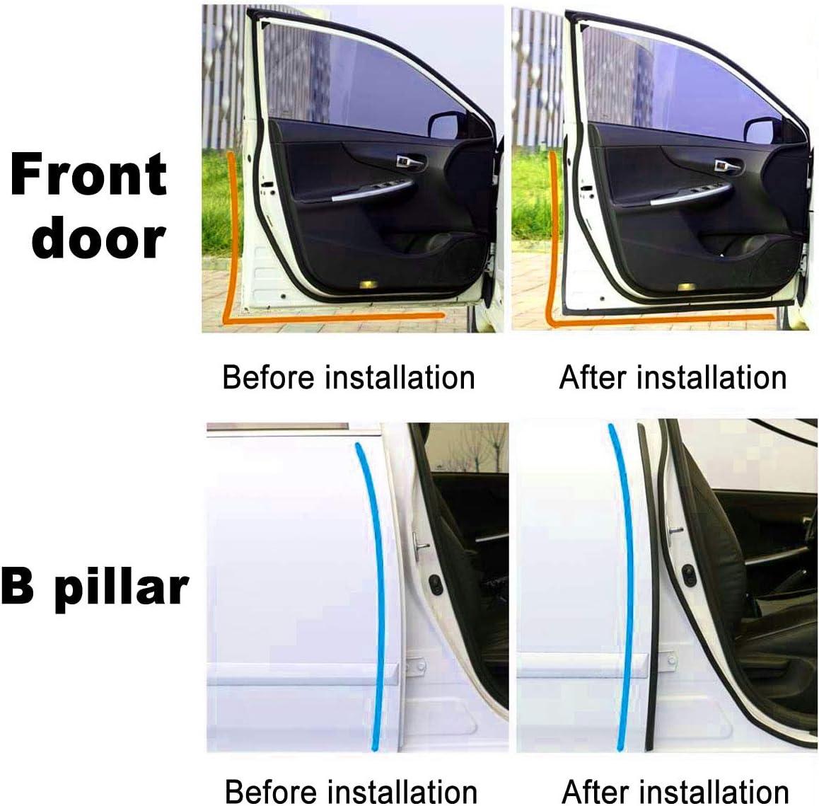 ELEDUCTMON Door Sealing Car Rubber Weatherstrip Kit Suitable for Tesla Model 3 Car Door Door Seal Kit,Soundproofing /& Noise Reduction,8 Pack Door Edge Guards,Self Adhesive Car Rubber Sealing Strip