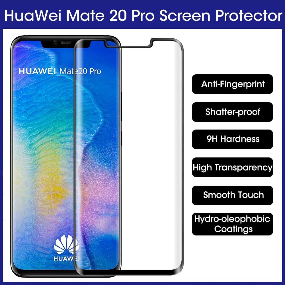 [完全接着]スクリーンプロテクターと互換性のあるGootime Huawei Mate 20 Pro [ケースに優しい] Huawei Mate 20 Pro強化ガラスフィルム1パック   B07N7DQKMS